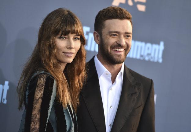 Justin Timberlake s manželkou Jessicou Bielovou