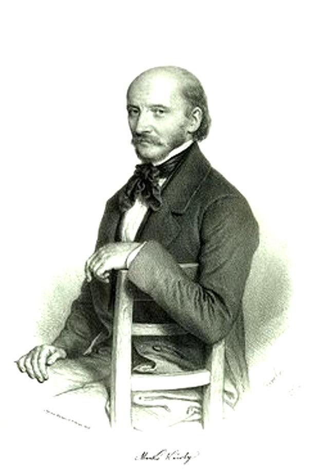Károly (Karol) Markó, litografia Miklósa Barabása zroku 1853.