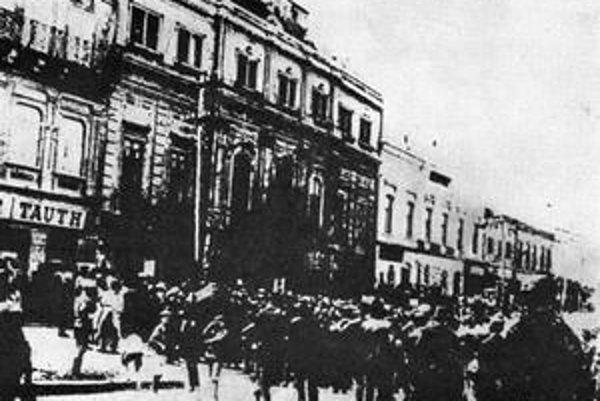 Vyhlásenie Slovenskej republiky rád v Prešove.