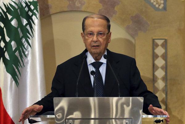Libanonský prezident Michel Aún na návšteve Egypta.