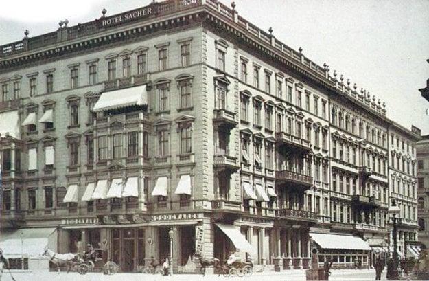 Hotel Sacher vo Viedni.