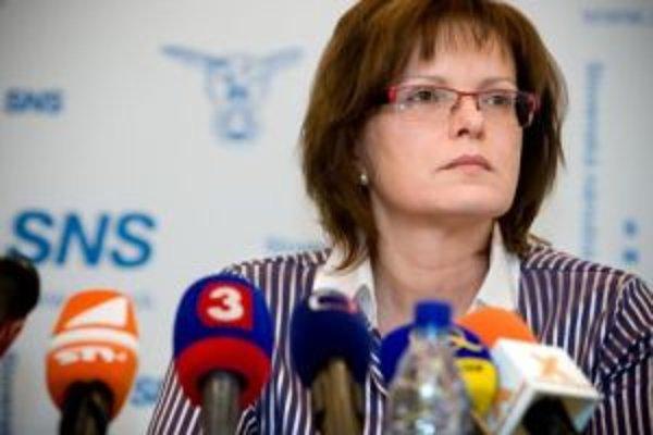 Podpredsedníčka strany SNS Anna Belousovová.