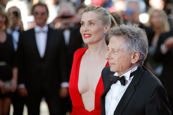 Roman Polanski s manželkou, herečkou Emmanuelle Seigner na festivale v Cannes.