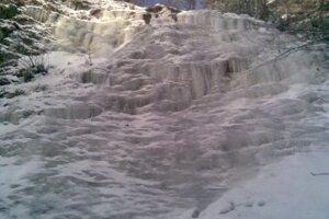 Jeden z ľadopádov v Kremennej doline.