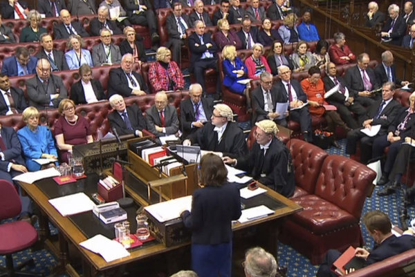 Britská Snemovňa lordov.