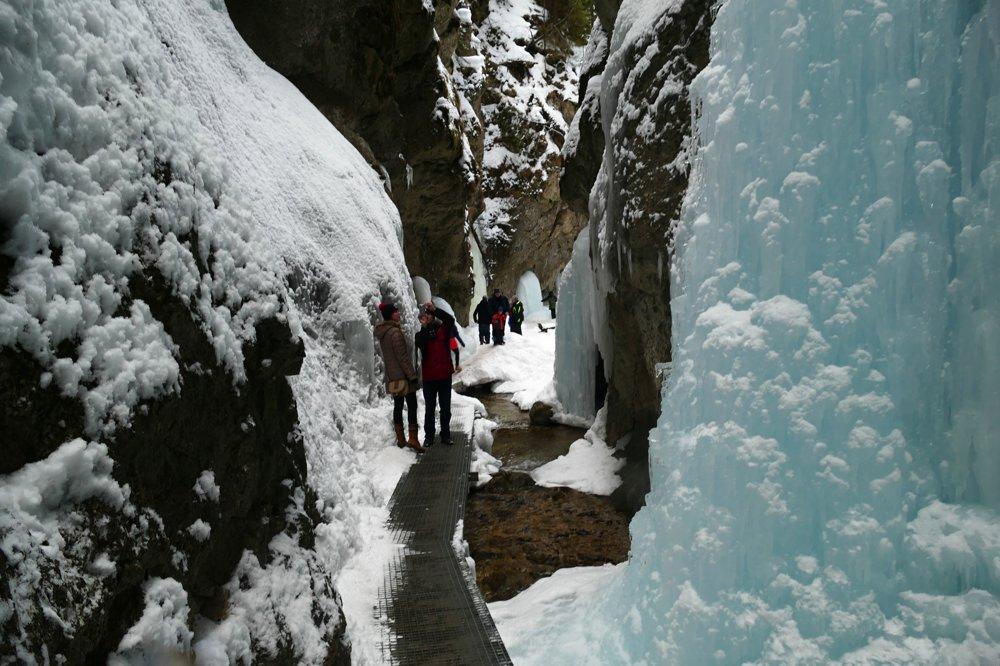 Jánošíkove diery v zime.