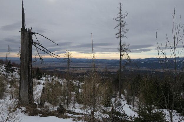 Veterná smršť sa aj tadiaľto prehnala v novembri 2004.