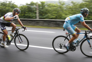 Peter Sagan (vľavo) a Vincenzo Nibali.