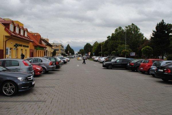 Parkovanie v Michalovciach.