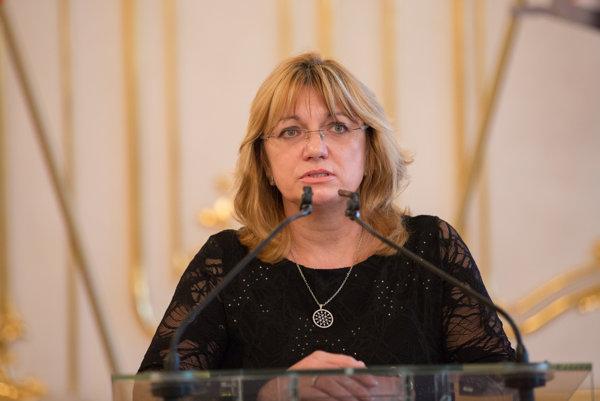 Predsedníčka Súdnej rady SR Jana Bajánková.