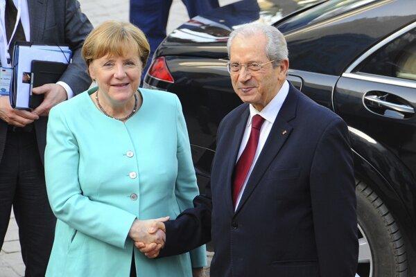 Angela Merkelová na návšteve Tunisu.