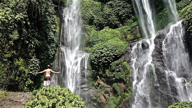Indonézia: Sekumpul vodopády na ostrove Bali.