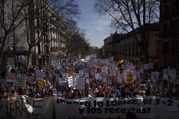 Protest v Španielsku.