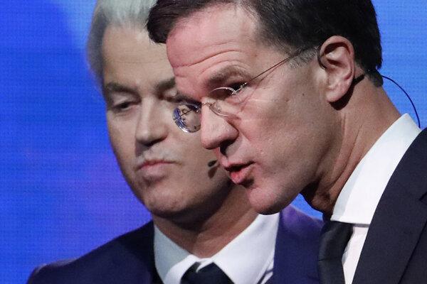 Geert Wilders a Mark Rutte.