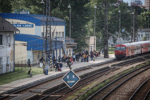 Železničná stanica v Lamači.
