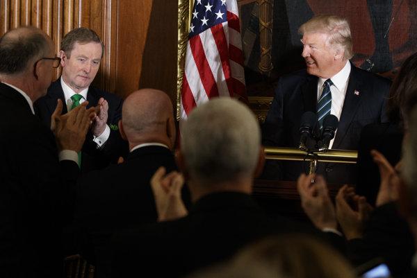 Írsky premiér Endo Kenny a americký prezident Donald Trump.