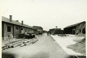 Tábor v SerediManipulačný priestor.