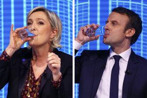 Marine Le Penová a Emmanuel Macron.