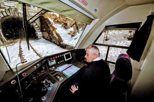 Skúška trate pri Lupkovskom tuneli.