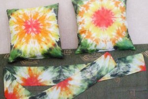 Batikované vankúše a šál