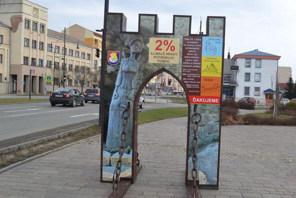 Hradná brána v centre Sabinova.