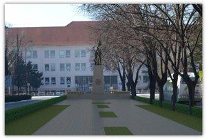 Vizualizácia pamätníka na Študentskej ulici.