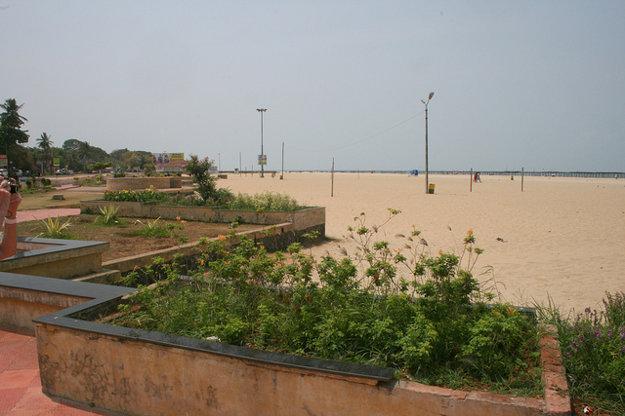 Pláž v Alappuzha, India.