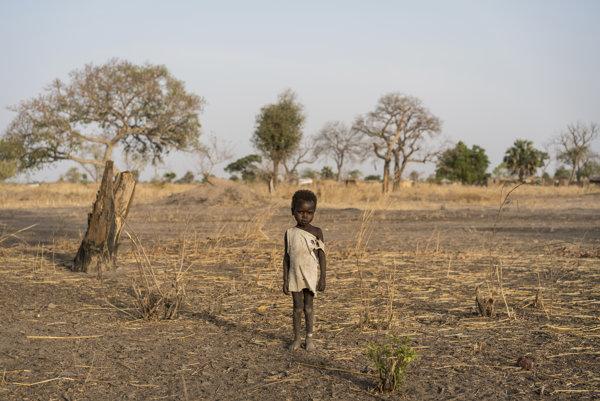 Udhaba pri meste Aweil v Južnom Sudáne.