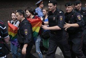 Propagácia homosexuality je v Rusku trestná.