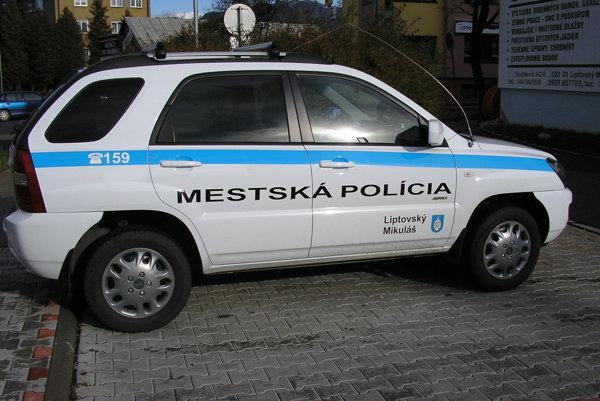 Mestská polícia v Liptovskom Mikuláši.