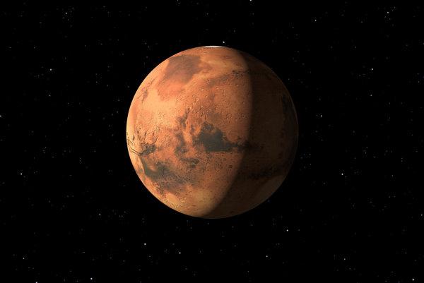 Planéta Mars vizualizácia.