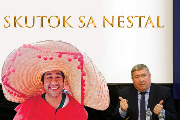 Tlačovka pred odchodom. Juan Mendosa de la Sección (vľavo) priznal, že sa má ešte veľa čo učiť od slovenských prokurátorov, najmä od Dušana Kováčika (vpravo).