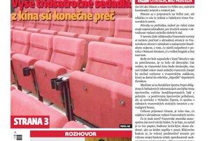 Titulná strana týždenníka Vranovské noviny, 10. 4. 2017