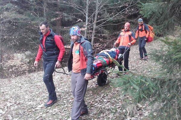 Zo včerajšieho zásahu horských záchranárov.