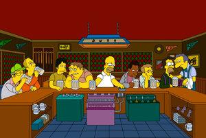 Posledná večera á la Simpsonovci.
