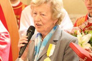 Anne Čechovej Pápež udelil významné ocenenie.
