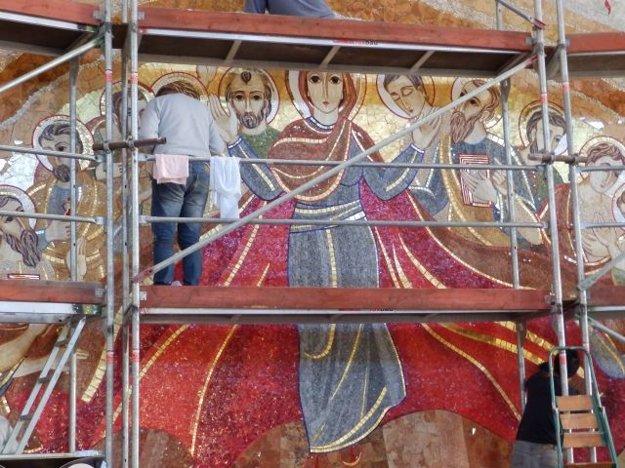 Na mozaikovom obraze bude pracovať svetoznámy výtvarník, páter Marko Rupník.