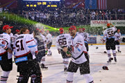 Búrlivé oslavy hráčov na ľade