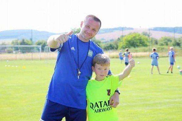 Miroslav Latiak so synom.