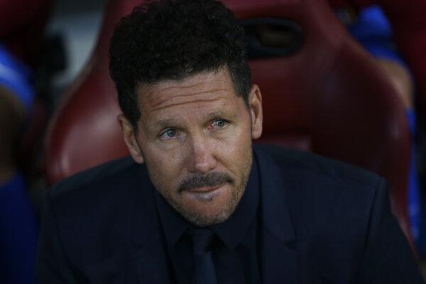 Tréner Atlética Madrid Diego Simeone - ilustračná fotografia.