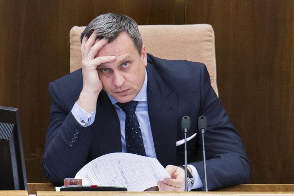 Predseda parlamentu Andrej Danko z SNS.
