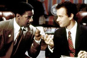 Denzel Washington a Tom Hanks vo filme Philadelphia.