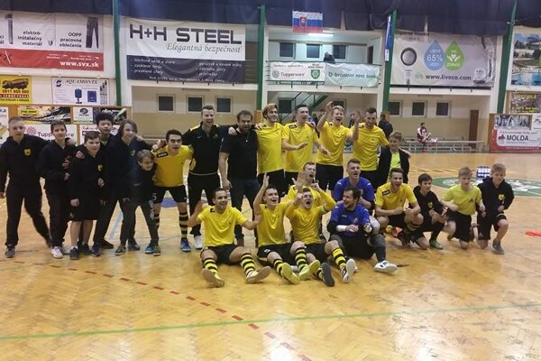 Futsalisti ŠK Makroteam Žilina majú dôvod na radosť.