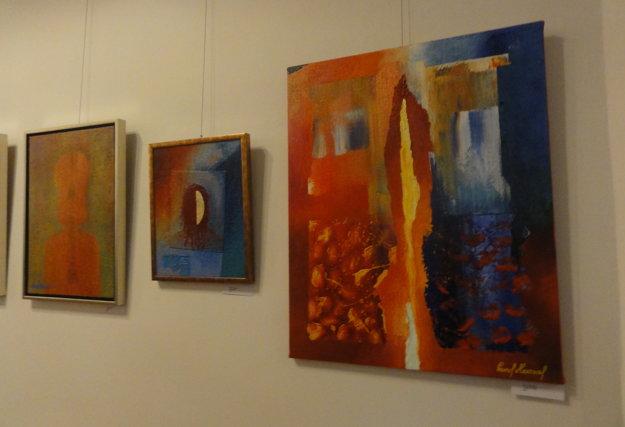 Pestrofarebné obrazy Pavla Hammela.