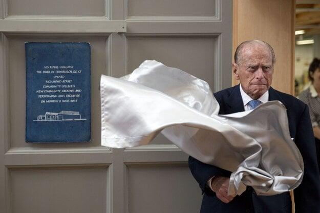 Princ Philip na archívnej snímke z 8. júna 2015.