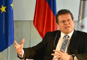 Na snímke podpredseda Európskej komisie Maroš Šefčovič.