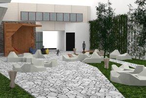 Relax park - Aj takto by mohlo vyzerať átrium podľa návrhu študentov.