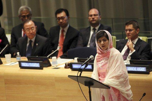 Malala svoje myšlienky prednášala aj na pôde Organizácie Spojených národov.