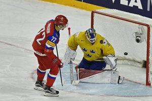 Artemij Panarin premieňa svoj samostatný nájazd v rozstrele zápasu proti Švédsku.