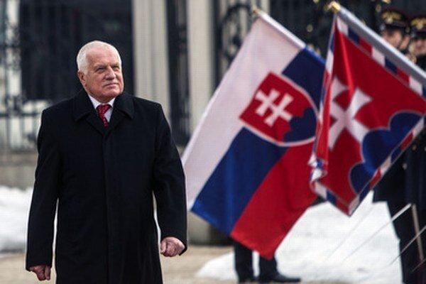 Václav Klaus ešte ako český prezident.